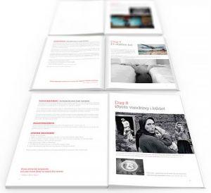 Tre oppslag fra boken Fotografér! av Tone Elin Solholm og Torkil Færø.