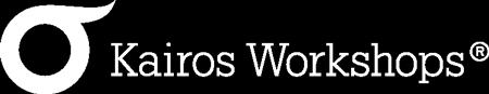 Hvit logo Kairos Workshops.