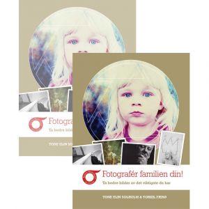 Bilde av to Fotografér familien din bøker, skrevet av Tone Elin Solholm og Torkil Færø.