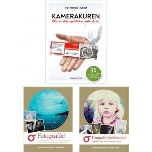 Bilde av bøkene Kamerakuren, Fotografér! og Fotografér familien din!