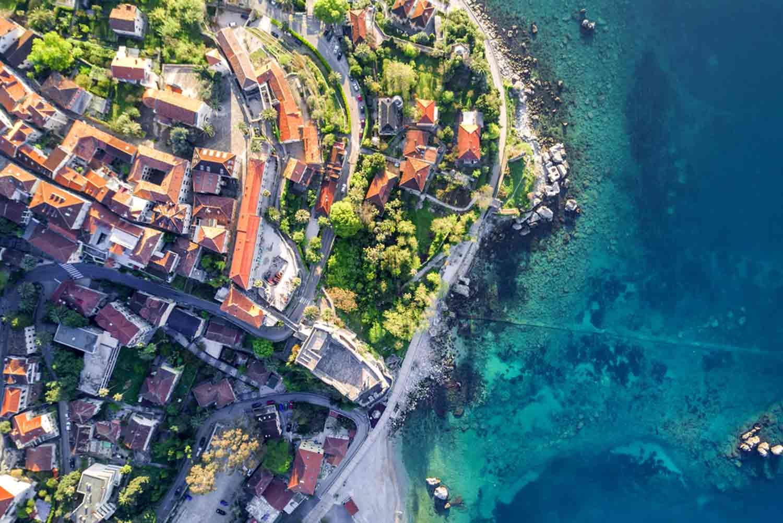Oversiktsbilde fra Montenegro